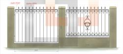 кованый забор 14