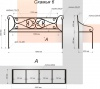 Кованая скамья 6