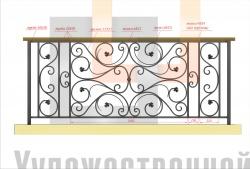 Кованое балконное ограждение 40