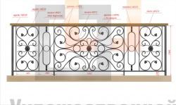 Кованое балконное ограждение 41