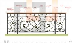 Кованое балконное ограждение 44