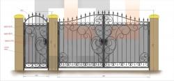 Кованые ворота и калитка 4