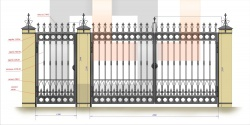 Кованые ворота и калитка 6