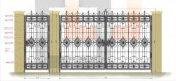Кованые ворота и калитка 8