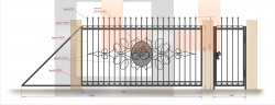 Кованые ворота и калитка 11