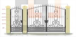 Кованые ворота и калитка 13
