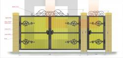 Кованые ворота и калитка 17