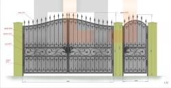 Кованые ворота и калитка 19