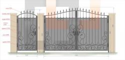 Кованые ворота и калитка 23