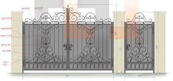 Кованые ворота и калитка 25