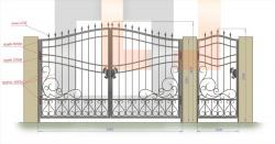 Кованые ворота и калитка 27