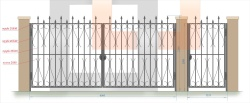 Кованые ворота и калитка 29