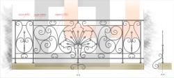Кованое балконное ограждение 4