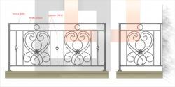 Кованое балконное ограждение 6