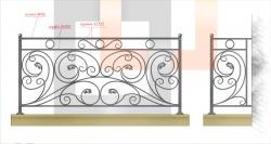 Кованое балконное ограждение 8
