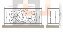 Кованое балконное ограждение 9