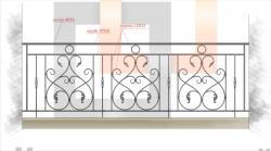 Кованое балконное ограждение 10