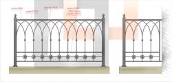 Кованое балконное ограждение 16