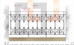 Кованое балконное ограждение 19