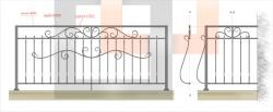 Кованое балконное ограждение 20