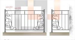 Кованое балконное ограждение 21