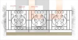 Кованое балконное ограждение 22