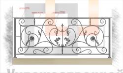 Кованое балконное ограждение 23
