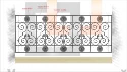Кованое балконное ограждение 28