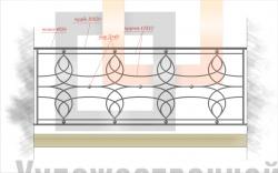 Кованое балконное ограждение 34