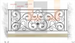 Кованое балконное ограждение 37