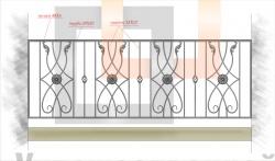 Кованое балконное ограждение 38