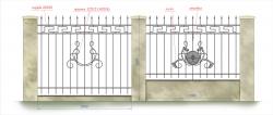 кованый забор 8