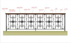 Кованое балконное ограждение 43