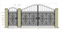 Кованые ворота и калитка 1