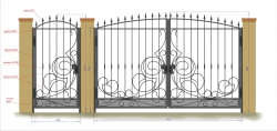Кованые ворота и калитка 2