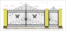 Кованые ворота и калитка 3