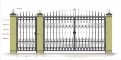 Кованые ворота и калитка 5