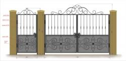 Кованые ворота и калитка 7