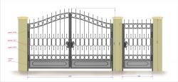 Кованые ворота и калитка 9