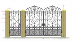 Кованые ворота и калитка 10