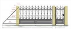 Кованые ворота и калитка 12