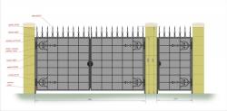 Кованые ворота и калитка 18