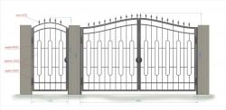 Кованые ворота и калитка 20