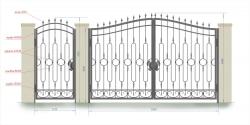 Кованые ворота и калитка 21
