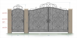 Кованые ворота и калитка 22