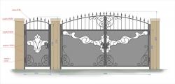 Кованые ворота и калитка 24