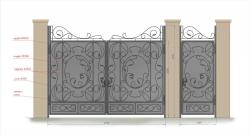 Кованые ворота и калитка 26