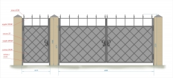 Кованые ворота и калитка 28