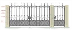 Кованые ворота и калитка 30