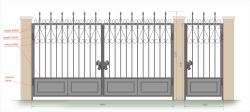 Кованые ворота и калитка 31